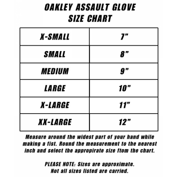 oakley glasses size chart